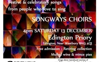 Songways Sing Noel Sat 13 Dec