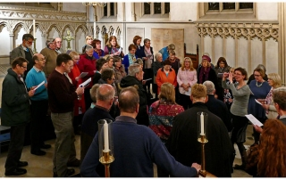 Singing in Corpus Chapel