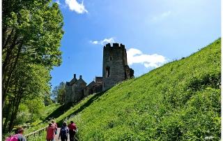 Approaching Farleigh Castle